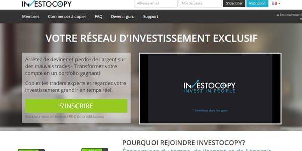 50€ de crédit offert sur Investocopy