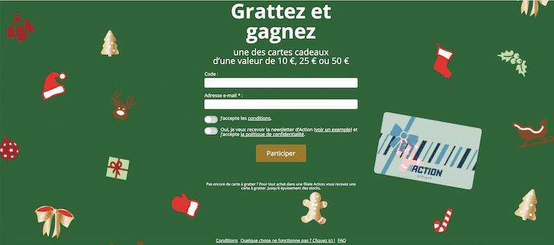 Grattez.action.com – Grand jeu code à gratter Action 2020 : des cartes cadeaux de 15 à 1500€ à gagner!