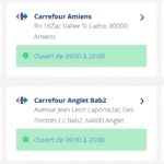 magasin ouvert : carrefour