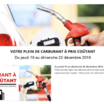 carburant a prix coutant Geant Casino