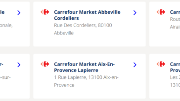 magasin ouvert : carrefour market