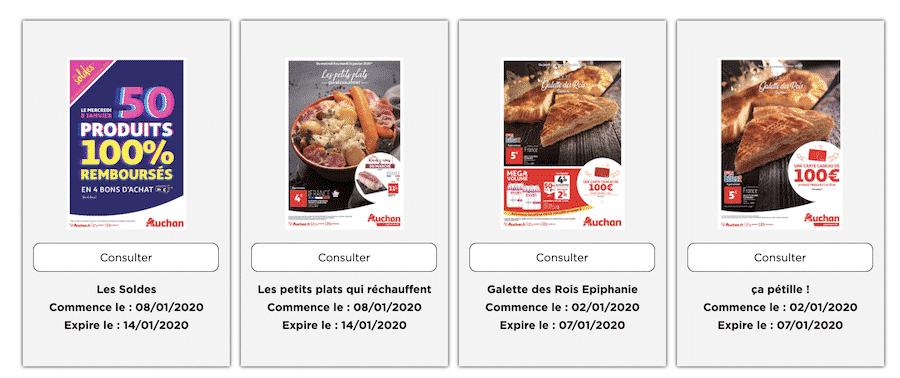 Soldes Auchan : 50 produits 100% remboursés proposés sur auchan.fr