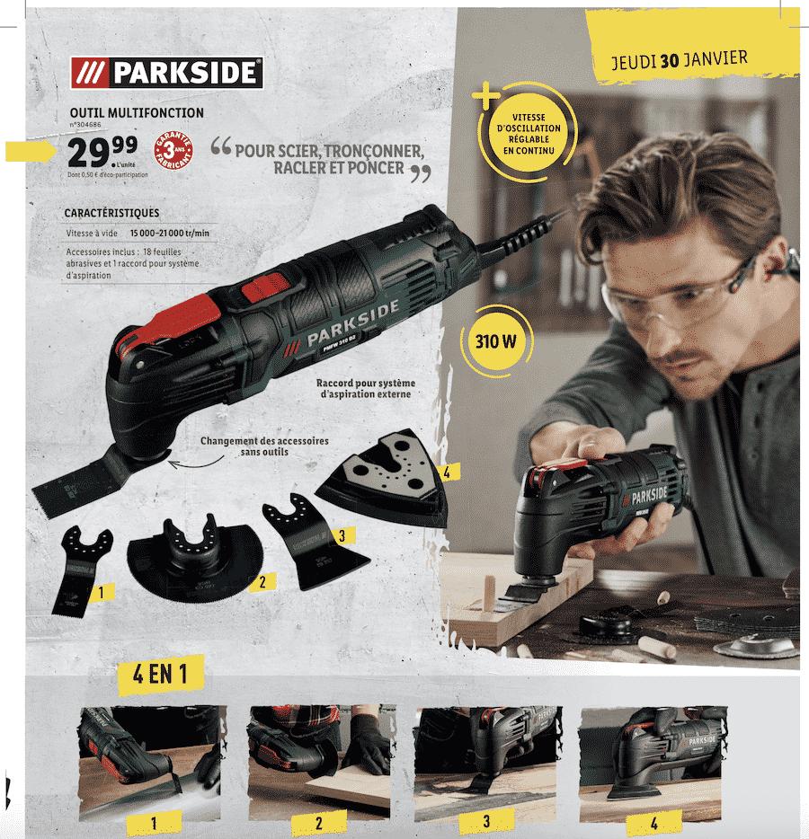 Outil multifonctions Parkside Lidl : votre appareil à 29,99 euros chez LIDL