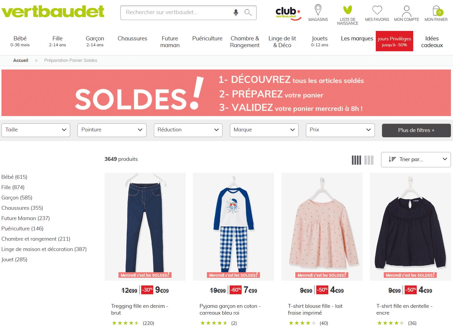 Soldes Vertbaudet : de nombreuses remises lancées sur vertbaudet.fr