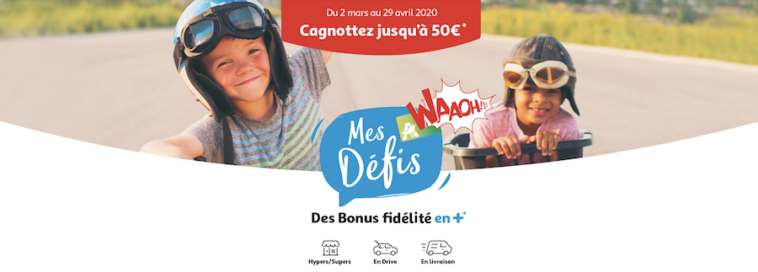 l'operation Mes Défis Waaoh Auchan