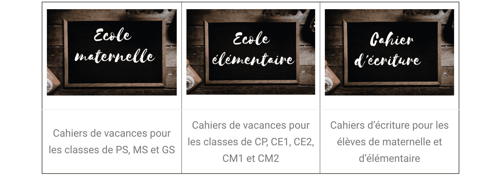 Des cahiers de vacances gratuits pour les enfants sur le site Éditions Rosace