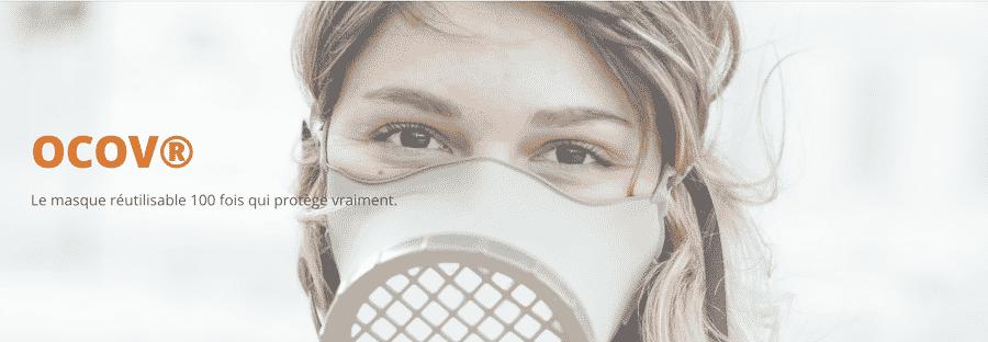 Masque OCOV® : un masque de protection réutilisable 100 fois
