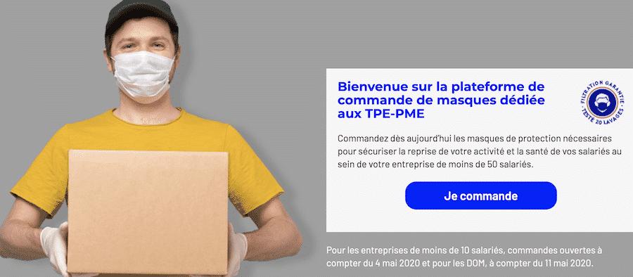 Masque La Poste : 10 millions de masques distribués au TPE et PME sur masques-pme.laposte.fr