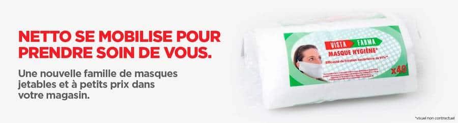 Masque Netto en tissu : votre boîte de 40 masques à 12,70€ sur netto.fr