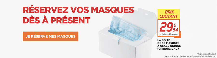 Masque Netto : 50 masques à 29,54€ sur netto.fr