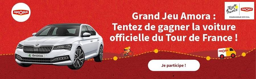 Grand jeu Amora « Tour de France » : la voiture officielle du Tour de France à gagner!