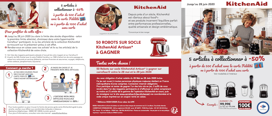 Kitchenaid Carrefour : -50% sur des articles Kitchenaid sur carrefour.fr