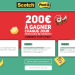 participez au Jeu Rentree Gagnante Scotch & Post-It sur www.rentreegagnante.fr