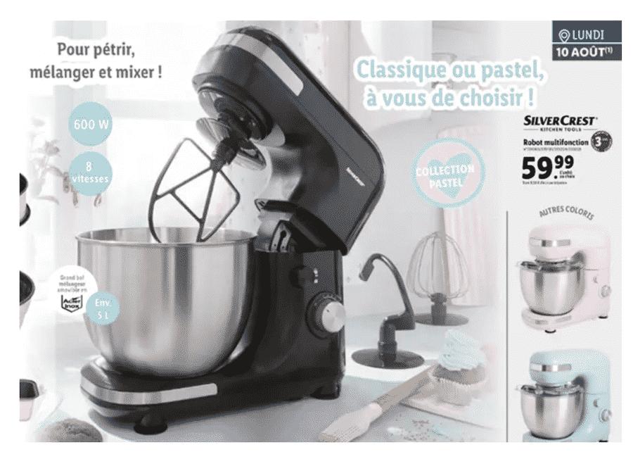 Robot multifonction Lidl SilverCrest pas cher à 59,99€