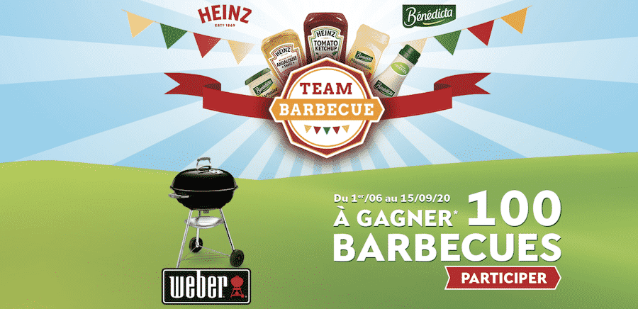 le Grand jeu Team Barbecue Heinz sur www.teambarbecue.fr