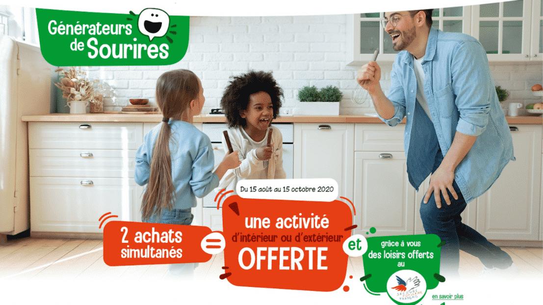 Opération Ferrero «Générateurs de sourires» : 2 produits achetés = 1 activité offerte