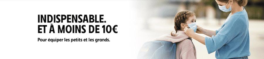 Masque Intermarché pas cher à 9,95 euros les 50 chez Intermarché
