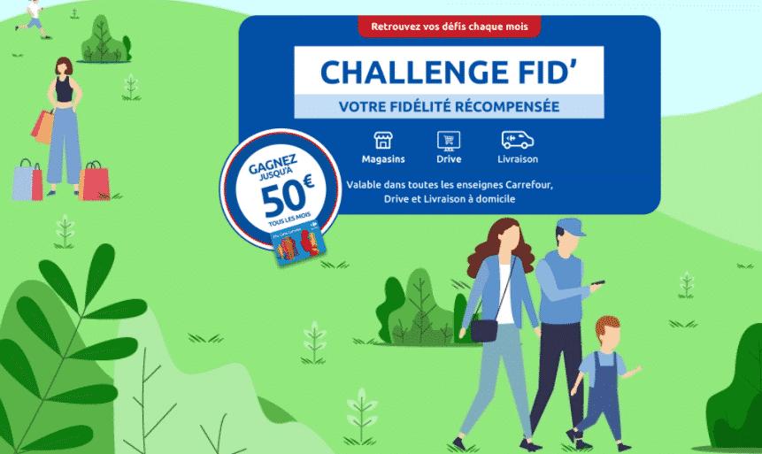 Challenge Fid Carrefour sur Challengefid.carrefour.fr : 50 € à gagner par mois