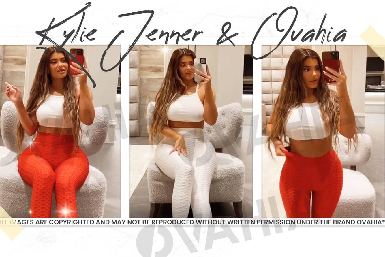 Kylie Jenner qui porte un legging push up Ovahia