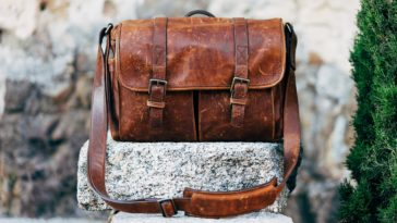 sac en cuir vintage