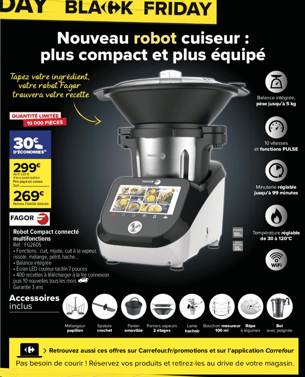 Black Friday robot Cuiseur Carrefour Market : remise sur le tout nouveau modèle!