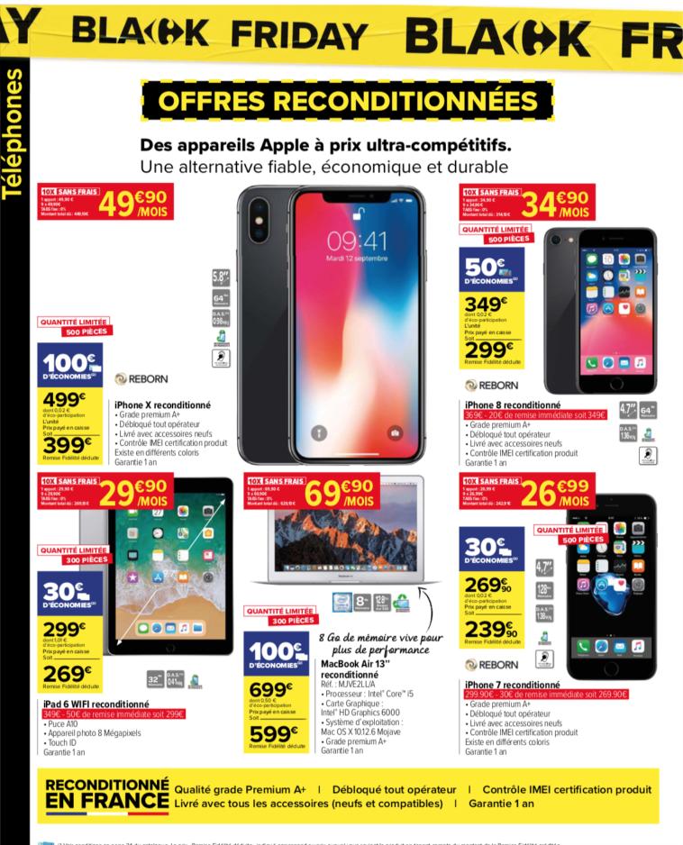 Black Friday téléphone portable Carrefour Market