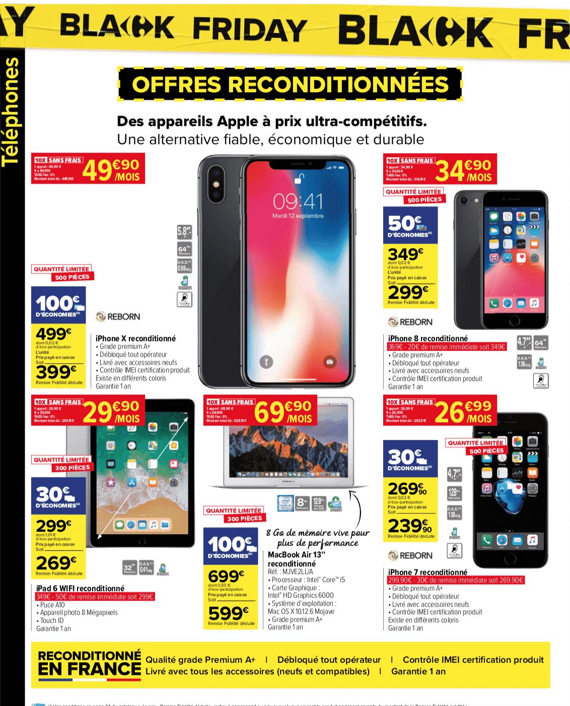 Black Friday téléphone portable Carrefour Market : des smartphones à prix cassés !