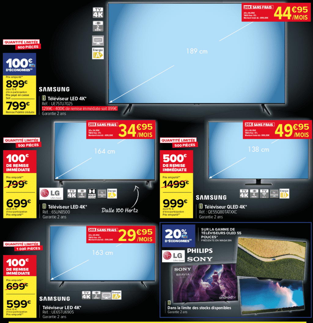 Black Friday Tv Carrefour Market 8 Modeles A Prix Reduits Mag Eco