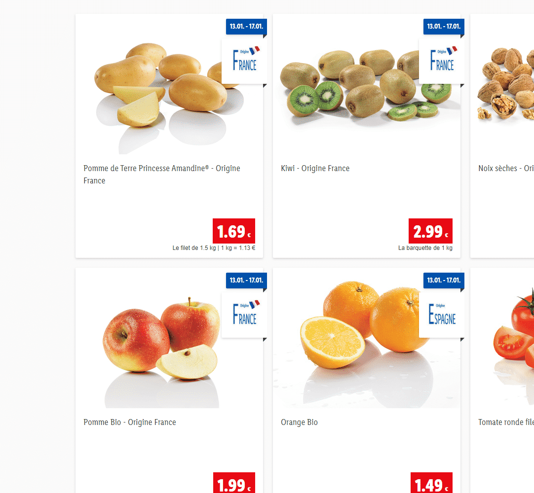 catalogue lidl 18/01/2021