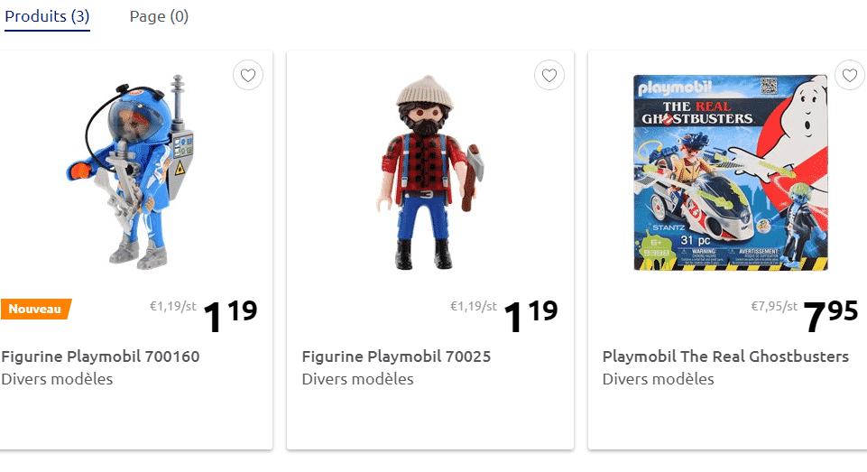 Figurines Playmobil Action Série 15 à 1.19 € le personnage chez Action