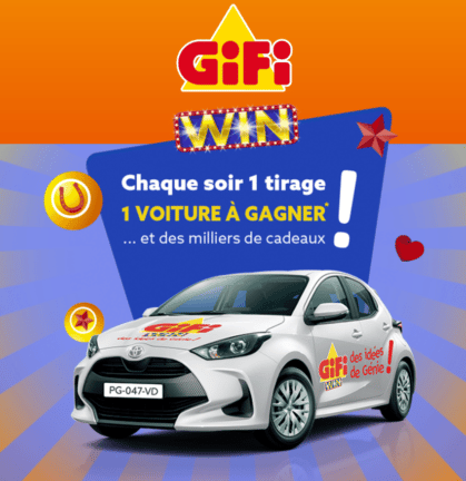 gifi win voiture a gagner