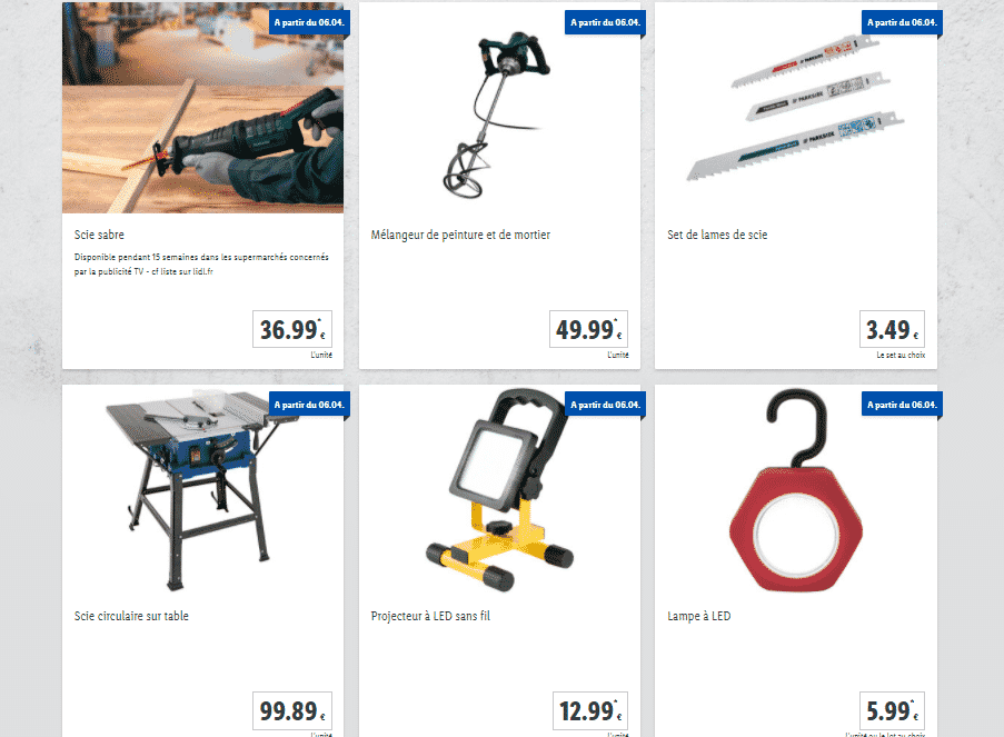 Catalogue outillage LIDL 2021