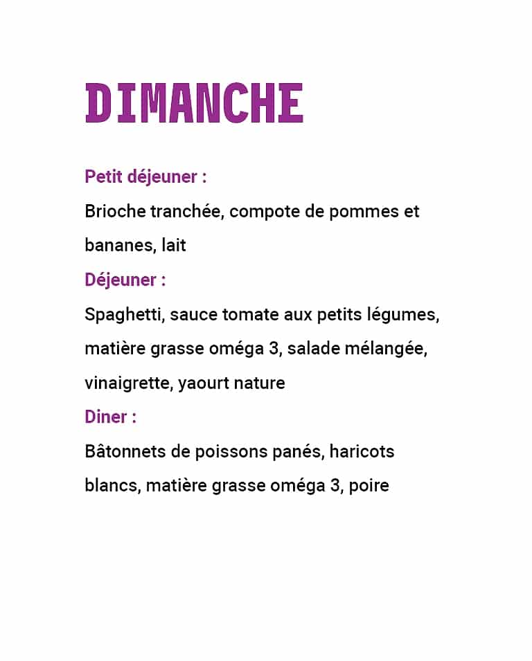 21 repas leclerc : menu dimanche semaine 2