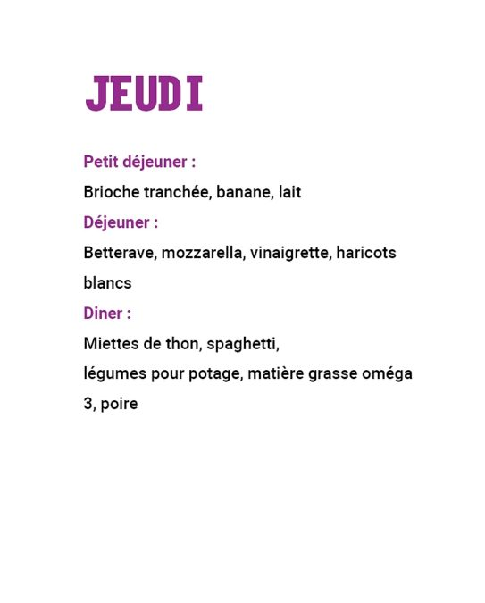 21 repas leclerc : menu jeudi semaine 2