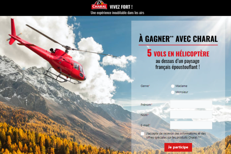 Grand Jeu Charal Helicoptère sur jeucharal-helicoptere2021.fr
